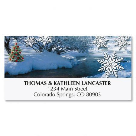 Winter Stream Address Labels