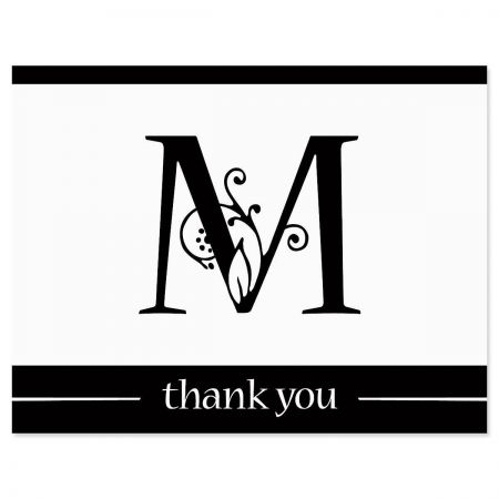 Formal Initial Personalized Thank You Cards