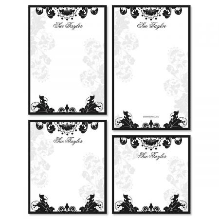 Rococo Personalized Notepad Set