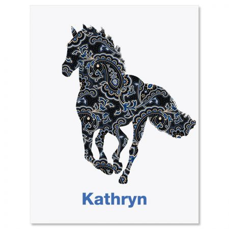 Horse Patterns Personalized Note Cards