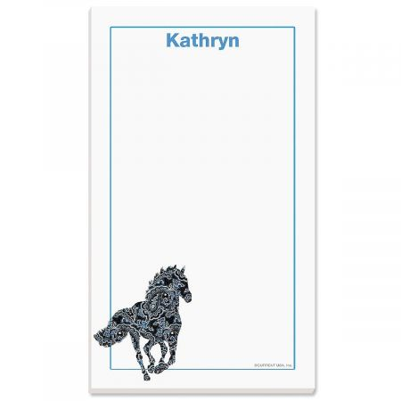 Horse Patterns Personalized Notepads