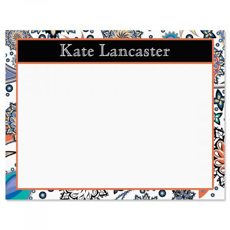 Color Paisley Correspondence Card