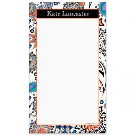 Color Paisley Personalized Notepads