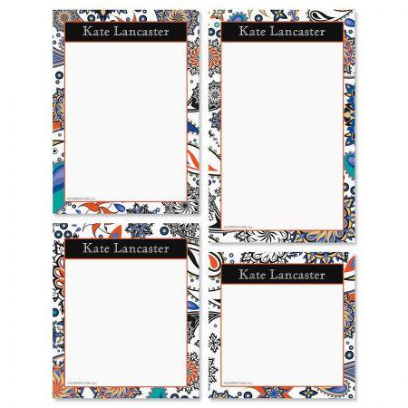 Color Paisley Notepad Set