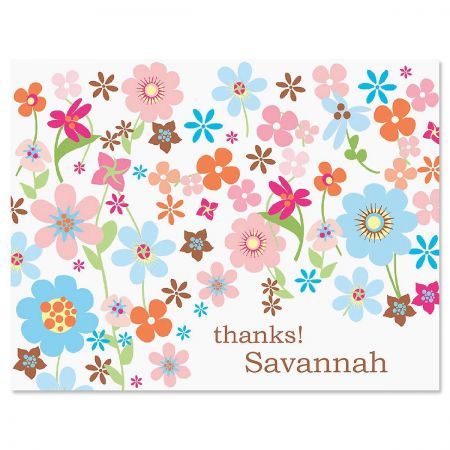 Sprightly Personalized Thank You Cards