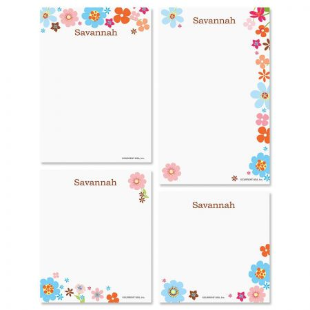 Sprightly Personalized Notepad Set
