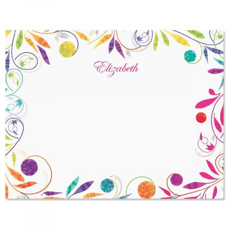 Color Swirl Correspondence Card