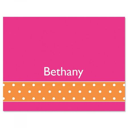 Zesty Dots Personalized Note Cards