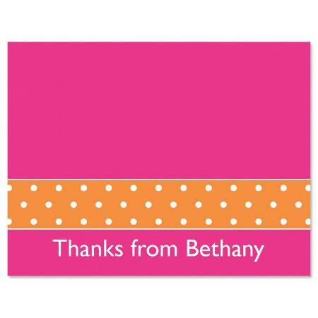 Zesty Dots Thank You Card