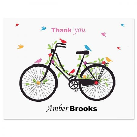 New Spin Personalized Thank You Cards