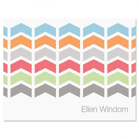 Chic Chevron Note Card