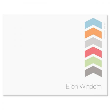 Chic Chevron Correspondence Card