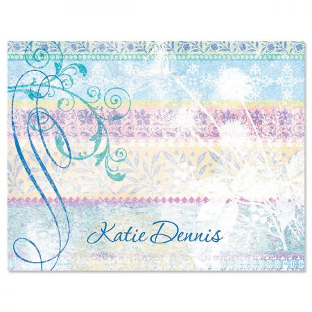 Mixed Blossoms Personalized Note Cards