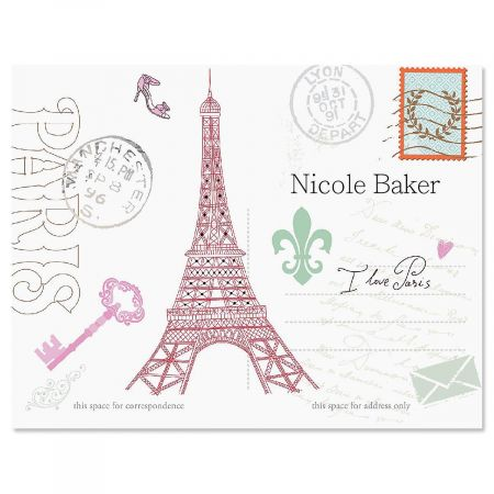 Paris Personalized Note Cards