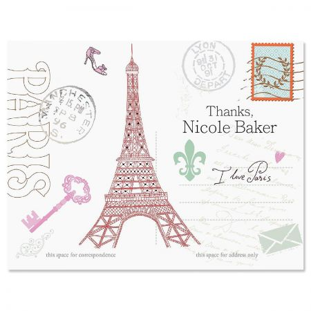 Paris Thank You Cards