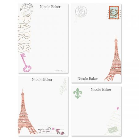 Paris Personalized Notepad Set