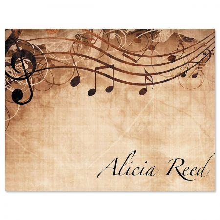 Sheet Music Note Card