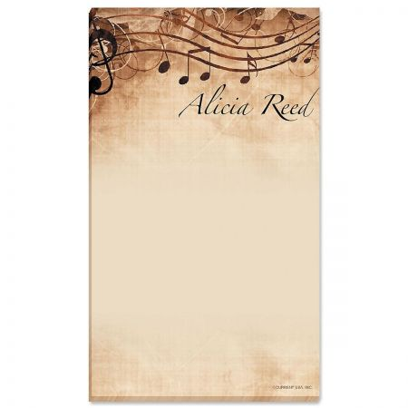 Sheet Music Personalized Notepads