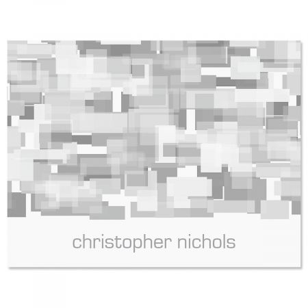 Shades of Grey Personalized Note Cards