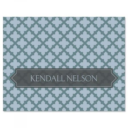 Quatrefoil Personalized Note Cards