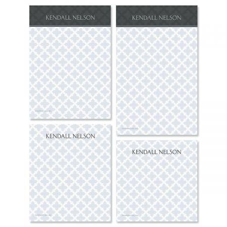 Quatrefoil Personalized Notepad Set