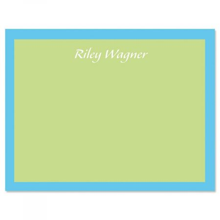 Bordered Hues Personalized Note Cards