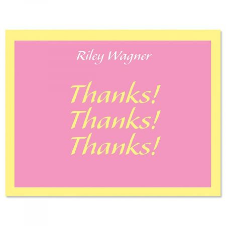 Bordered Hues Personalized Thank You Cards