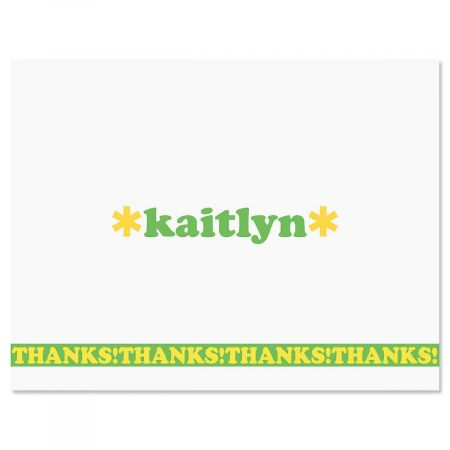 Playful Personalized Thank You Cards