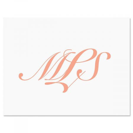 Elegant Monogram Personalized Note Cards