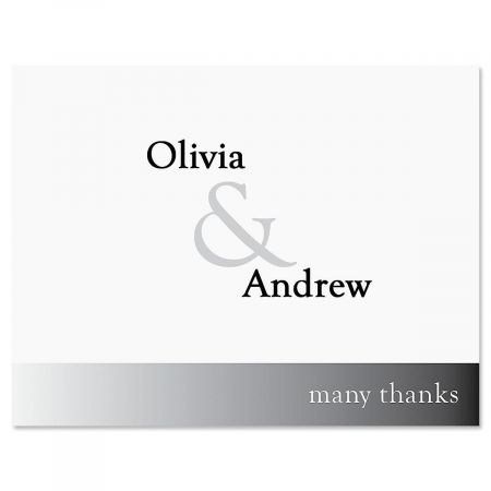 Ampersand Personalized Thank You Cards
