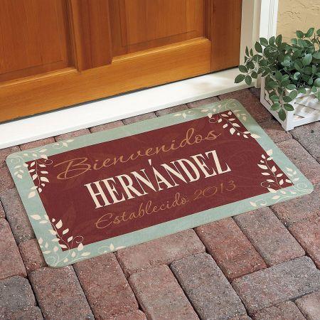 Bienvenidos Establecido Doormat