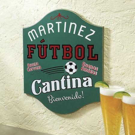 Futbol Cantina Plaque