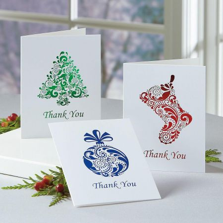 Foil Thank You Note Cards