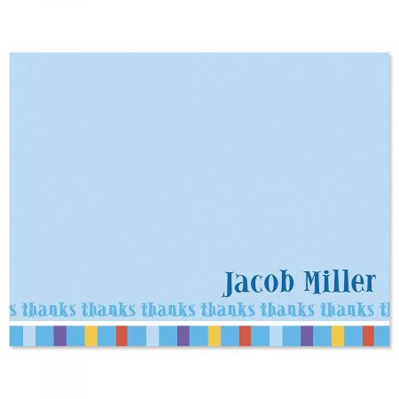 Color Bar Personalized Thank You Cards