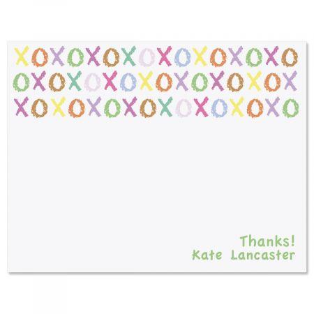 XOXOXO Personalized Thank You Cards