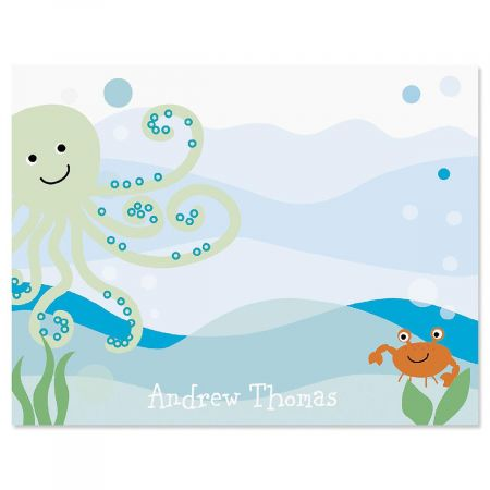 Octopus Correspondence Cards