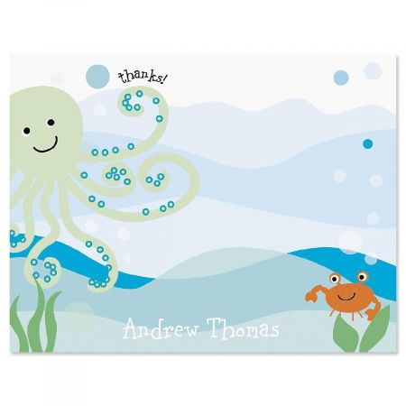 Octopus Personalized Thank You Cards