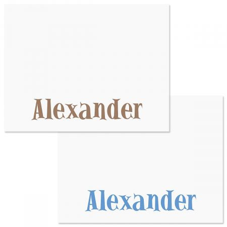 Boys Only Correspondence Cards  (2 Color Choices)