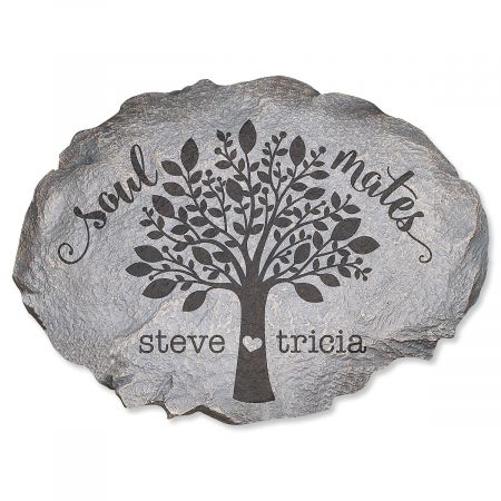 Personalized Soulmates Garden Stone