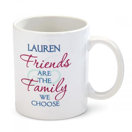 Personalized Friends Are Family Mug
