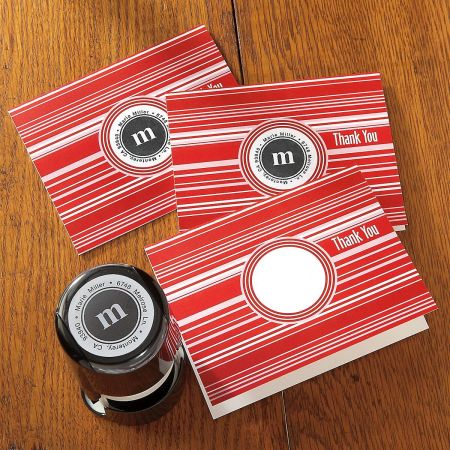 Red Stripe Stampable Note Card