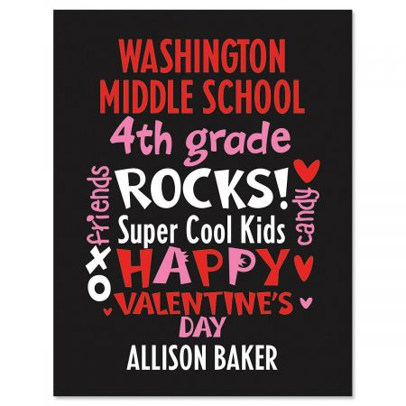 Word Montage Personalized  Valentines