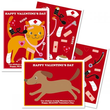Animal Doctor Valentines with Stickers