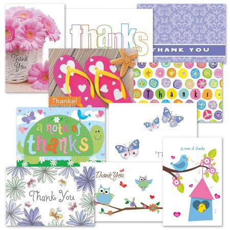 40 Card Thank You Note Cards Value Pack