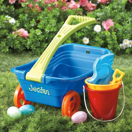 Kids Personalized Plastic Wagon Set