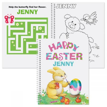 Personalized Easter Coloring & Activity Book-Girl-610239A