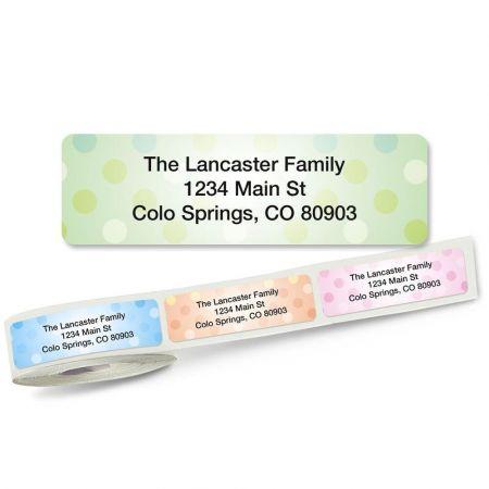 Pastel Dots Rolled Address Labels (5 Designs)