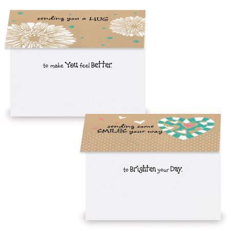 Everyday Kraft Thinking of You Greeting Cards Value Pack