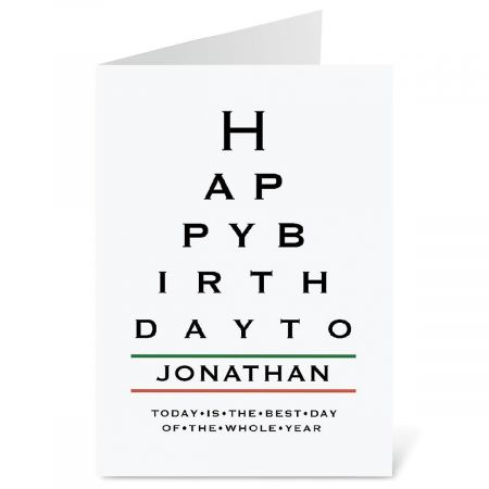 Eye Chart Birthday Create-A-Card