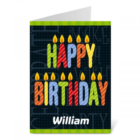 Birthday Candles Birthday Create-a-Card